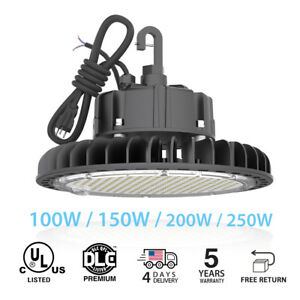 Ufo Led High Bay Lights Ul Dlc 100w 250w Warehouse Fixture Factory Shop Lighting