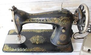 Antique Singer Sewing Machine 1927 Gingerbread Model 15 Foot Treadle Ab959606