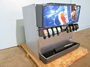servend Md 200 Commercial Hd Counter top Lighted 8 Heads Soda W ice Dispenser