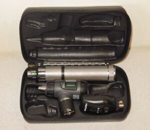 Welch Allyn 3 5v Macroview Otoscope Ophthalmoscope Kit W handle 23820 11720