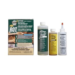 New Pc Rot Terminator Fix Epoxy Wood Hardener Resin Restore Kit 24oz Bottles Usa