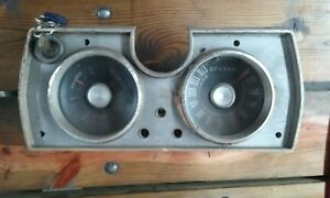 1965 Plymouth Barracuda Valiant Cluster Speedometer Assembly
