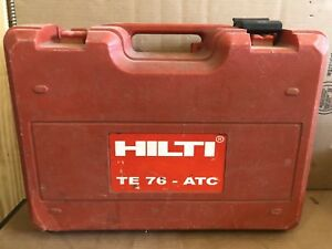 Hilti Te 76 atc Concrete Rotary Hammer Drill case Only