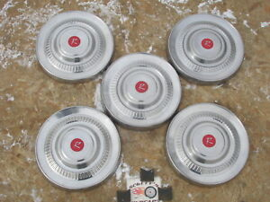 1963 Rambler Classic Poverty Dog Dish Hubcaps Lot Of 5