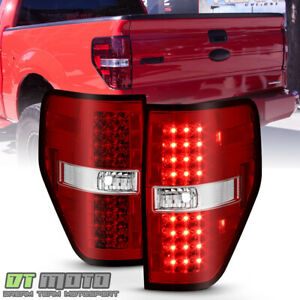 2009 2014 Ford F150 Styleside Lumileds Led Perform Red Clear Tail Lights Lamps