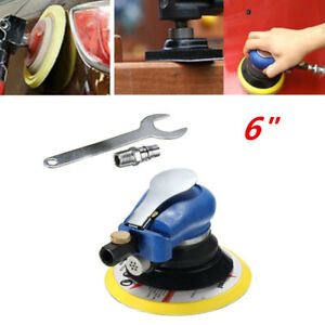 6 Air Random Orbital Pneumatic Sander Car Body Da Low Vibration Tool 10000 Rpm