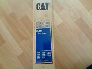 Caterpillar D4e Tractor Factory Service Manual Oem 27x 77w