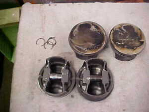 Sbc Mahle 101p18 Forged Pistons Flat Top 930200360 4 060 Bore 6 00 Rod 350 360