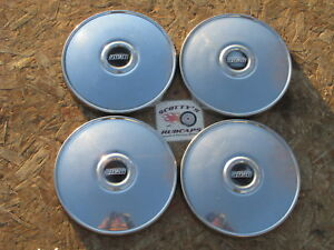 1960 S 1970 S Fiat Spider Etc Poverty Dog Dish Hubcaps Set Of 4