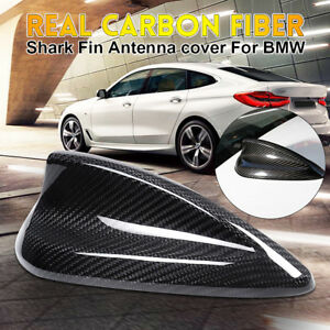 Real Carbon Fiber Roof Antenna Shark Fin Aerial Cover Trim For Bmw F20 F30 F80