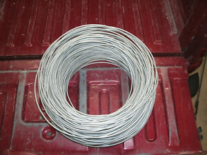 Bare Solid Aluminum Ground Wire Tie Wire 4 Gauge Around 900 Feet See Pictures
