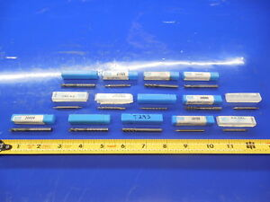 14pc Lot Of New Sgs Carbide End Mills 3 16 1 32 3 32 1 4 7 Other Sizes Cnc