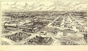 1906 Antique Old Panoramic Map Milwaukee Wisconsin Genealogy Family History Wi1