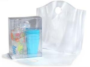 1 Unit Clear Wave Top Plastic Bags Medium 18x15x6 25 Recycled Unit Pack 250