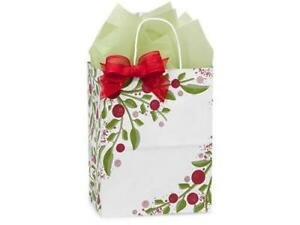 1 Unit Cub Tuscan Christmas Paper Bags Mini Pk 8x4 3 4x10 1 4 Unit Pack 25