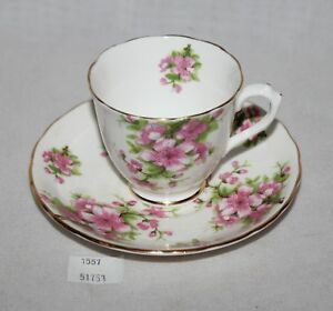 Thriftchi Chelsea Staffordshire England Ceramic Pink Floral Tea Cup