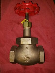 2 United Brass Industrial Globe Valve 200wsp 400 Wog Usa