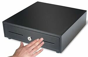 Hk Systems 13 Heavy Duty Compact Black Manual Push open Cash Drawer With 4 Bill