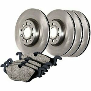 Centric Brake Disc And Pad Kits 2 wheel Set Front New For Jaguar Xj6 908 20012