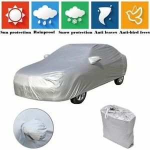 Universal Full Car Cover Breathable Waterproof Snow Rain Sun Uv Dust Resistant