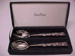 Neiman Marcus Silver Plated Grapevine Server Set Godingers Reed Barton Stainless