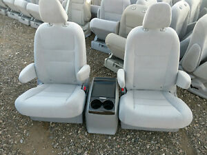 New Takeouts 2 Bucket Seats Gray Cloth With Console Truck Van Bus Hotrod Rv