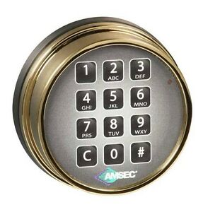 Amsec Esl10xl Digital Safe Lock In A Brass Finish Replaces S g 6120 And Lagard
