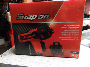 Snap On 14 4v Microlithium Micro Lithium Cordless Screwdriver Kit Cts761a