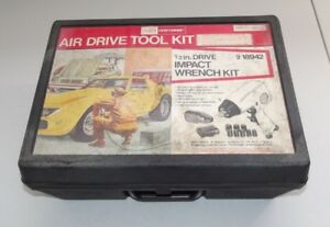 Vintage Craftsman 1 2 Drive Air Impact Wrench Kit 918942 Usa