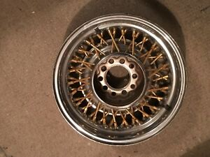15 Ford Lincoln Gold Wire Wheels Set Of 3 Only 15x6 52 Spokes 2 3 4 Backset