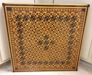 Hand Made Marquetry Inlaid Wood Wall Hanging Over 11 Lbs 23 X 23 1 2