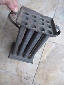 The Best Large 2 Handle 12 Tube Colonial 1790 Tin Candle Mold Americana Gift