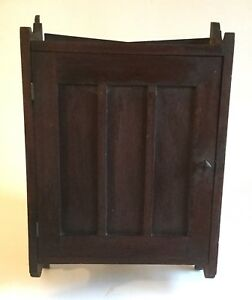 Antique Arts And Crafts Oak Wall Hanging Cabinet
