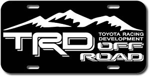 Trd Off Road 4x4 Toyota Racing Tacoma Vehicle License Plate Front Tag Usa Truck