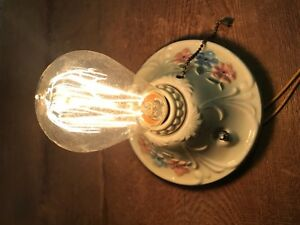 Nos Porcelain Porcelier Sconce Ceiling Light Fixture Lamp Antique Art Deco 1920s