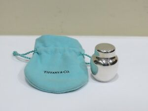 Vintage Tiffany Co Sterling Silver Jar Pill Box