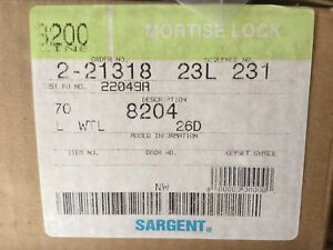 Sargent Mortise Door Lock 8204 L Wtl 26d Brand New In The Box