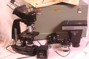 Bausch And Lomb Dynazoom Binocular Style Microscope With Camera Attachment More