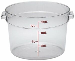 Cambro Rfscw2135 Camwear 2 quart Round Food Storage Container Polycarbonate