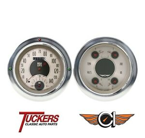 54 55 Chevy Truck All American Nickel Gauge Tach Classic Instruments Ct54an62