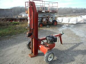 Towable 22 ton Gas Horizontal Vertical Hydraulic Log Splitter W Briggs Engine
