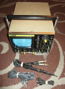 Vintage B k Precision 30mhz Oscilloscope Model 1474 W Dynascan Pr36 Probe Leads