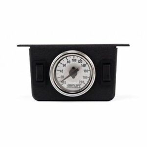 Air Lift 26157 Dual Needle Gauge Panel With Two Switches 200 Psi