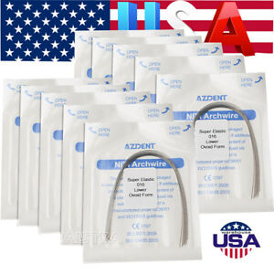 300 Bag Usps Dental Orthodontic Super Elastic Niti Round Arch Wires 016 Lower Z
