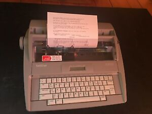 Brother Sx 4000 Daisy Wheel Portable Electronic 78k Dictionary Typewriter Tested