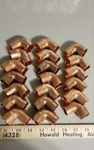 Lot Of 20 Nibco Copper 90 Degree Elbows 1 7 8