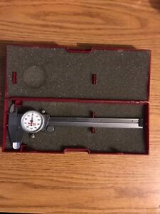 Starrett No 120a 0 6 Stainless Dial Calipers Case White Face Made In The Usa