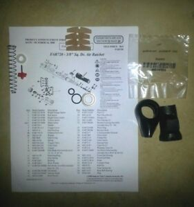 Snap On Far720 3 8 Ratchet Vane Kit Trigger Valve Kit Button Cover O Rings