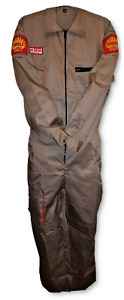Overalls Ladies Shell Motor Oil Coverall Retro Heritage Boiler Suit Tan Us