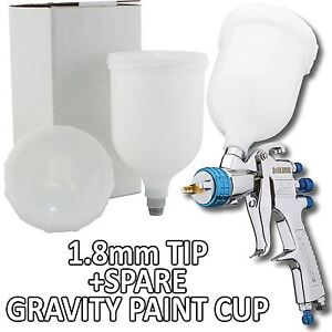 Devilbiss Slg 620 Spray Gun Gravity Feed 1 8mm Solvent Paint Primer Spare Cup